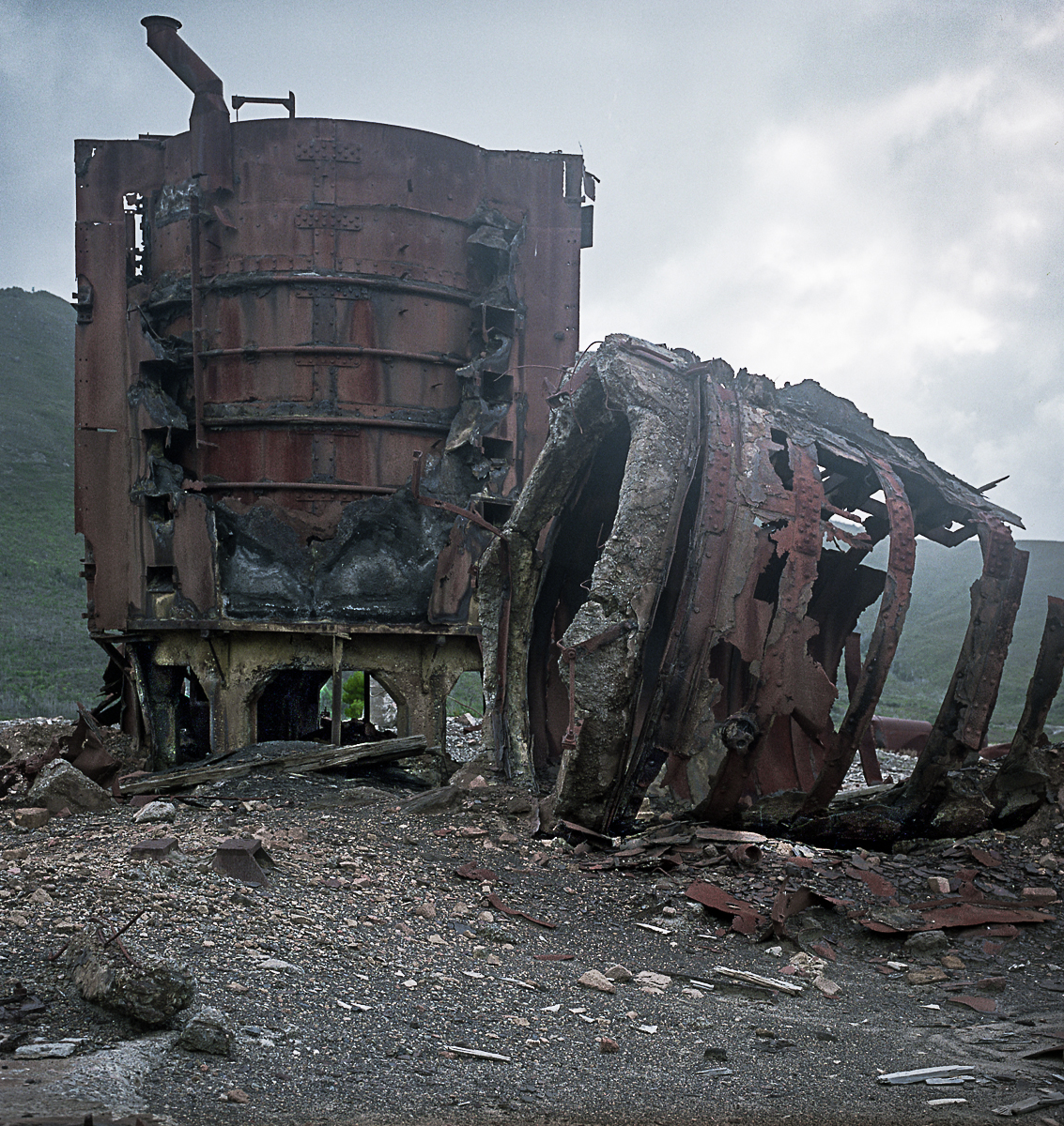 Ruined Smelter, Zeehan