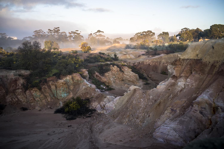 open cut mine, Kapunda, am